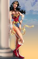 Wonder Woman and column by timothylaskey