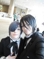Blurry selfie with Sebastian by Catchmewithyourlips