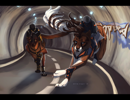 Midnight Duel - Tube Speedway by Sintales