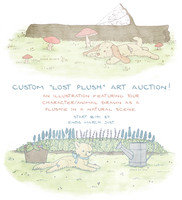 Custom Lost Plush-themed Art Auction by tinylaughs