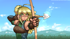 Elven Archer - Take Aim by RoninDude