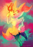 Braixen by MusicalCombusken