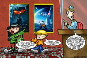 Numbuh 3 and 4 at the Movies by Kroizat