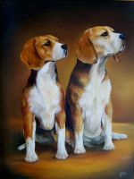 Beagles by artibird