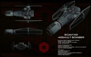 TIE Scimitar Assault bomber ortho by unusualsuspex