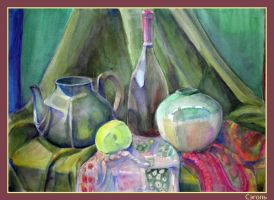 Still Life, with teapot by Segol-Hane