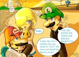 Luigi's valentines date with rosalina by kjshadows131