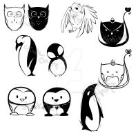Penguins and Owls by Ahsayuni-Love