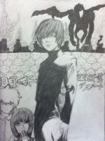 Death Note fan art by bri-the-dino