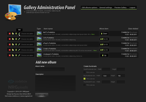 Gallery Admin Panel by MsT4GFX