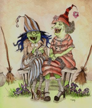 Laughing Witches by Creepymama