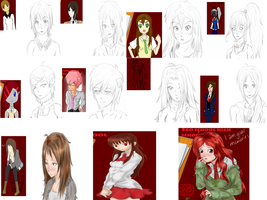 all of my recent sketches Q-Q by theoneandonlycopycat