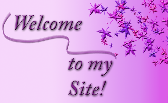 Welcome to my Site Banner in Pink and Violet tones by TheStockWarehouse