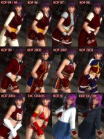 Athena Asamiya Costume Collection by NewMember2016