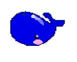 whale pixel art by eclipsesong