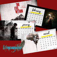 The Evil Within Calendar by venomglow