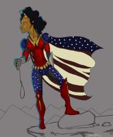 Wonder Woman redesign WiP by ranerdis