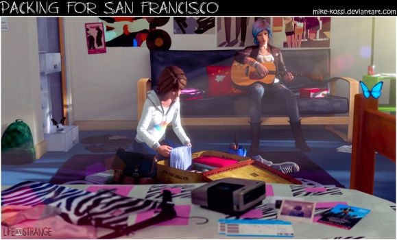 Life is Strange - Packing for San Francisco by Mike-Kossi