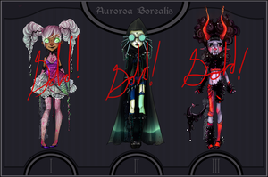 Aurora Borealis Adoptables Set - Sold out! by H-e-n-r-i