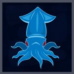 Blue Squid by Zonkpunch