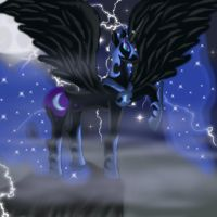 Nightmare moon in the night by GemriQueen