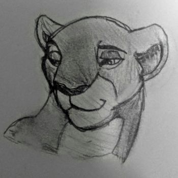 Nala (Grown up Lion King sketch) by SherBetIcy