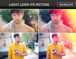 LIGHT LEAK PHOTOSHOP ACTION 0029 by symufa