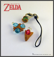 Legend of Zelda OOT Gems Charmz by Crazy8zCharmz