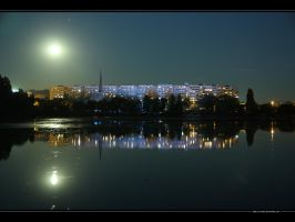 Moonlight upon the lake No. 3 by vxside