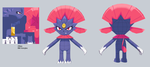 [Low Poly] Weavile by The100MegaShock