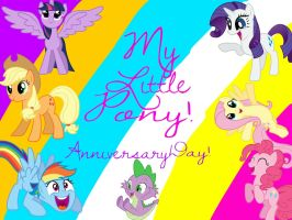 My Little Pony Anniversary Day of 2014! by pinkielover901