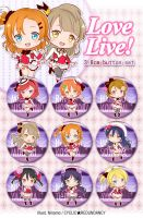 Love Live! - button set by Ninamo-chan