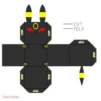 Umbreon Papercraft by CharrChan