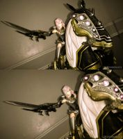 Odin And Lightning FFXIII-2 by kevsaxelle