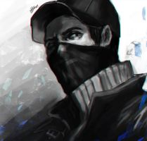 draw in 60 min ~ Aiden pearce by zzingne