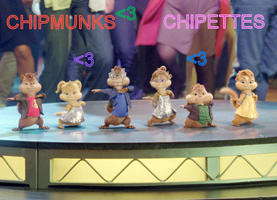 The chipmunks and chipettes by Chipettes4EVA