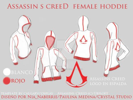 Assassins Creed female hoodie by crystal-studio