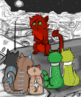 Cats by nuttycoon