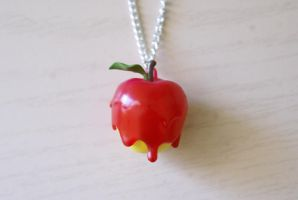 Candy Apple Necklace by MonsterBrandCrafts