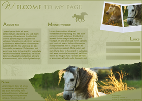 Green Horse Layout by crystalcleargfx