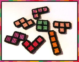 Tetris Magnets by Liliana-Claire