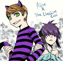 Alice and The Cheshire Cat by metroground