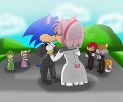 SonAmy, Wedding Day! by charliethemew012