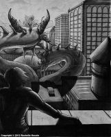 Godzilla Vs. King Ghidorah by TheDragonofDoom