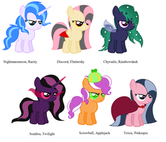 My Little Mane Villians *UPDATE* by PyscoSnowflake