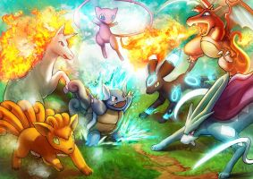 The Forest Pokemon Showdown by Gevurah-Studios