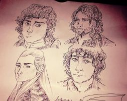 Lord of the Rings Sketch by Pikachelle