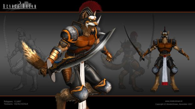 Lycan Knight- 3D Model 2 by jerix