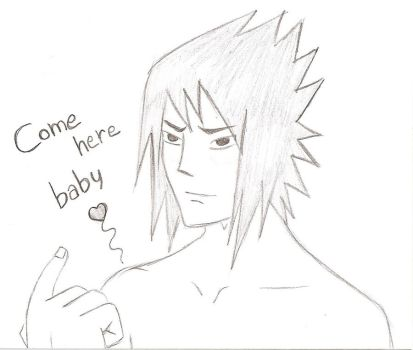 Sasuke - Come here baby by LadraDiFragole