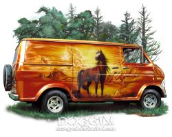 Orange Van by scarypet